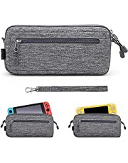 Sisma Ultra Slim Carrying Case Compatible with Nintendo Switch and Switch Lite Console, Travel and Storage Case Protective Pouch - Gray