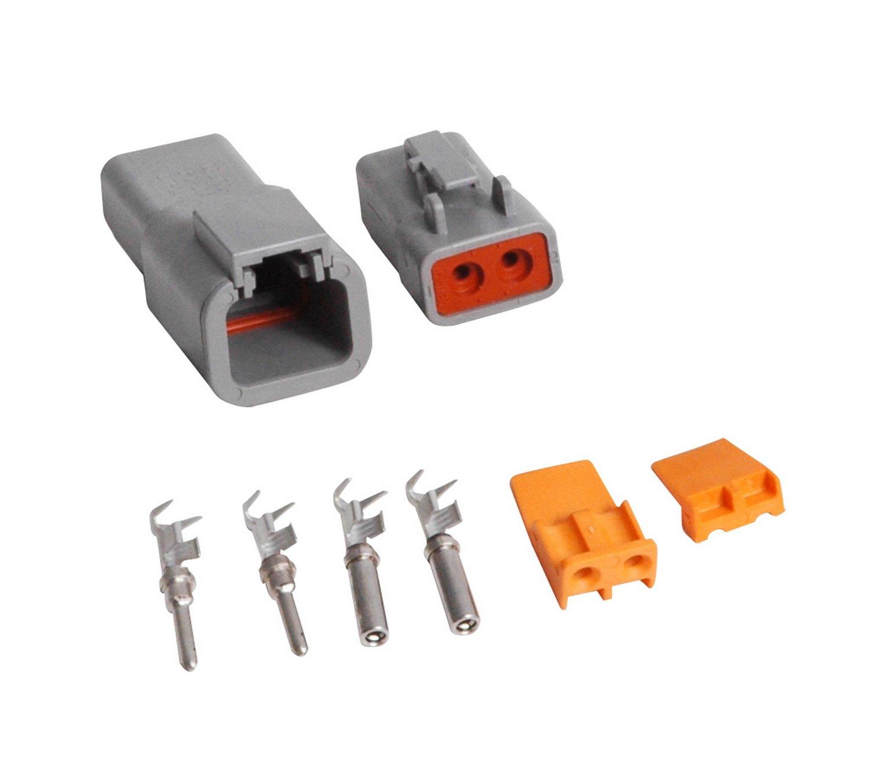 Amazon.com: MSD 8184 2-Pin 12-14 Gauge Deutsch Connector: Automotive