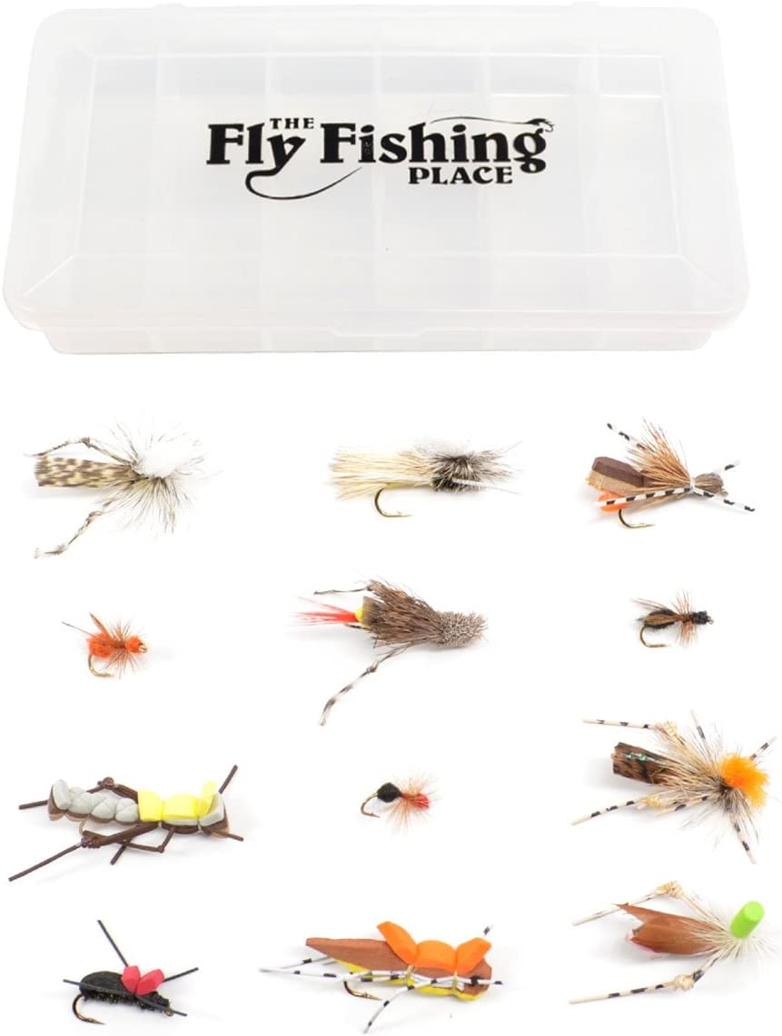 Morrish Hopper Foam Grasshopper Fly Terrestrial Trout Flies 4 Flies Size 10