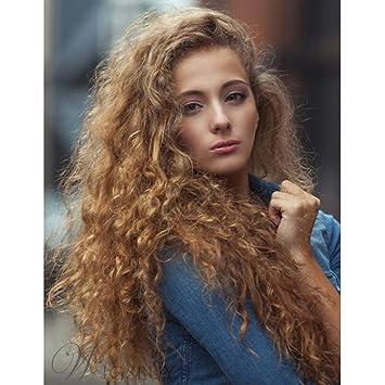 Amazon.com: Peluca de pelo sintético largo y resistente al ...