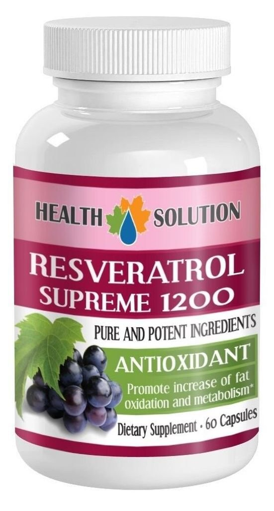 Organic Resveratrol Extract Resveratrol Supreme 1200 MagicPromotes Healthy Weight Management Efficiently Helps Fight Fatigue Helps Increase Fat Oxidation Natural Anti-Oxidant Blend 2 Bott