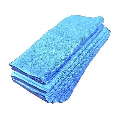 "Towels by Doctor Joe Ultra-88 Blue Hi-Loft 16"" x 16"" Microfiber Towel - 12 Pack: Automotive"