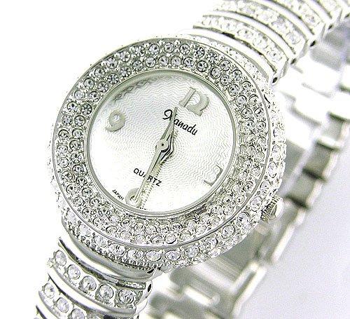 New Ladies 18K Plated Swarovski Crystal Bracelet Watch  Amazon.co.uk   Watches 3b9e03bf1b9a
