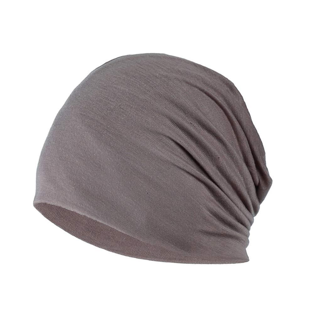 Cappello in Cotone Chemio Cancro Cappuccio per Dormire Cappuccio Turbante Copricapo Elastico Musulmano per Donna Uomo YOFASEN Berretto Slouchy