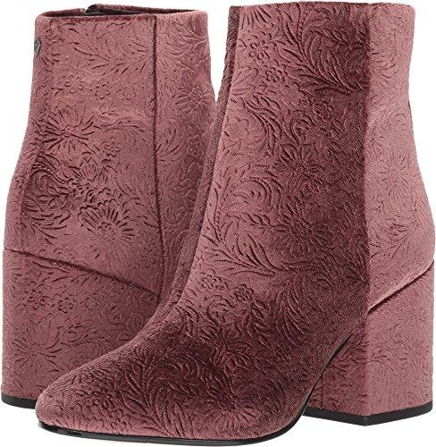 (Sam Edelman Women's Taye Ankle Boot, Mauve Wine Embossed Velvet, 8.5 Medium US)