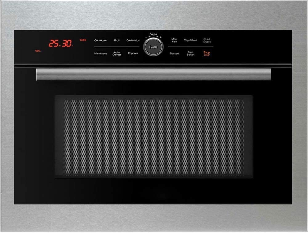 5 in 1 OvenBuilt In Convection Microwave Oven with Drop Down Door: Bake, Brown, Roast, Grill, Toast & Microwave