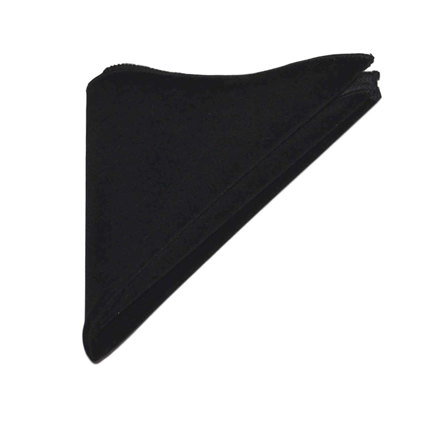 Luxury Black Velvet Pocket Square, Handkerchief King & Priory