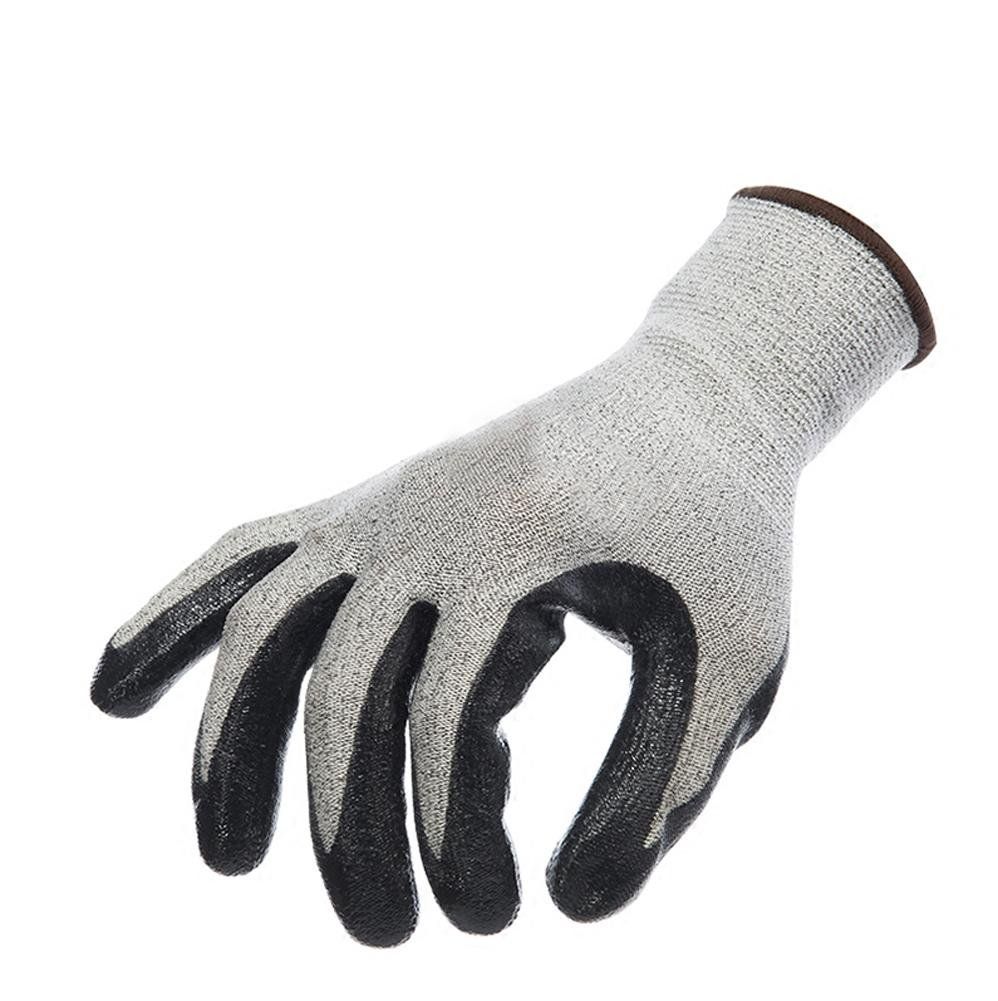 Handling physical work labor insurance professional anti-cutting gloves wear elastic breathable protective tool non-slip oil resistant nitrile / 3 double by LIXIANG (Image #3)