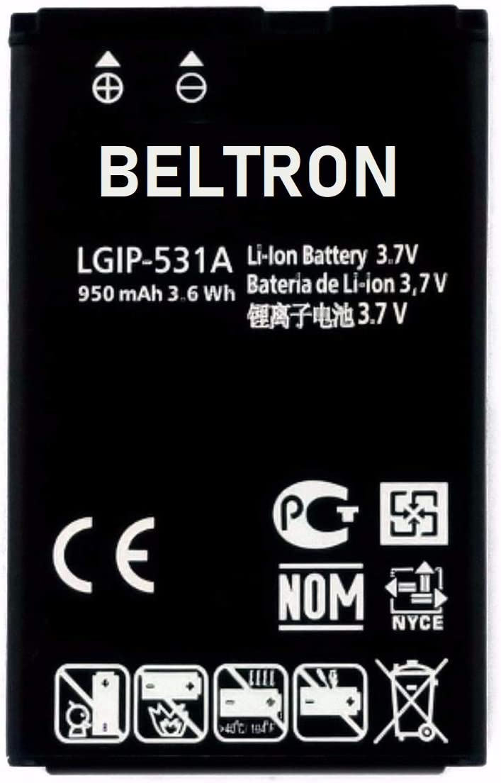 Amazon Com New Lgip 531a Sbpl0090501 Sbpl0090503 Beltron Replacement Battery For Envoy 2 Un160 Envoy 3 Un170 Saber Un200 237c 440g 500g T Mobile B450 Cricket B460 At T B470 Ku250