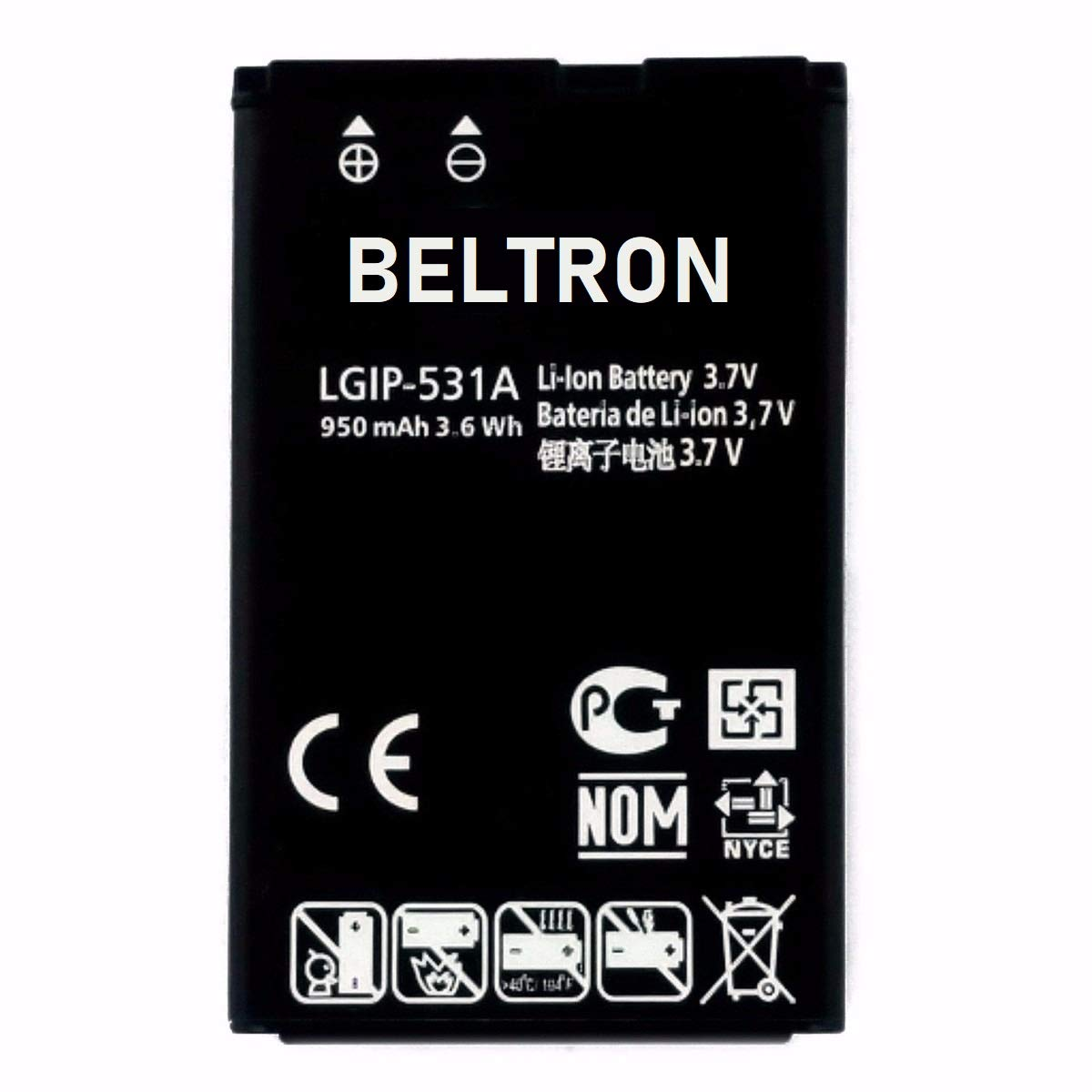 New LGIP-531A SBPL0090501 / SBPL0090503 BELTRON Replacement Battery for Envoy 2 UN160, Envoy 3 UN170, Saber UN200, 237C, 440G, 500G, T-Mobile B450, Cricket B460, AT&T B470, KU250 by BELTRON