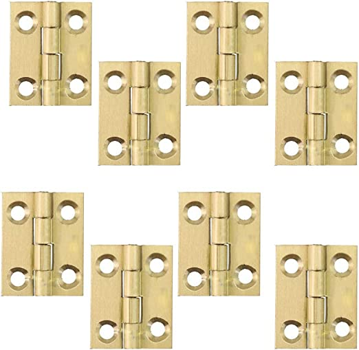 "10pcs 0.7/"" Small Corner Draw Door Miniatures Hinges Dollhouse Fixture Fittings"