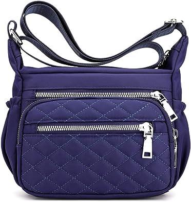 Women/'s Nylon Waterproof Handbag Crossbody Messenger Shoulder Bag Travel Satchel