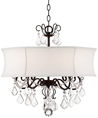 crystal chandelier white amazon wide zula com shade dp