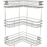 Embassy L-Shaped Corner Stand, Triple (3-Tier), 33X53 Cms, Stainless Steel (Multipurpose Storage Rack / Shelf - Kitchen, Bathroom Etc.)