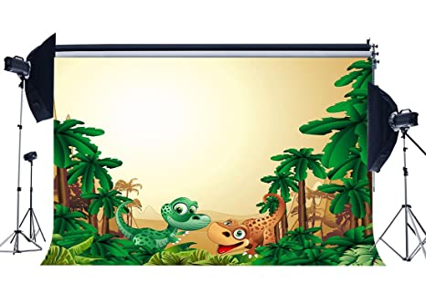 amazon com gladbuy vinyl 9x6ft dinosaur backdrop cartoon backdrops