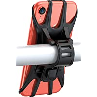 Bike Phone Mount, Pobon Bicycle Phone Holder Adjustable Handlebar Motorcycle Phone Mount Compatible with iPhone 12 Pro…