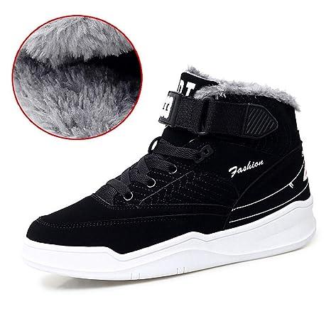 FHCGMX Stivali da Neve Caldi Invernali Stivali da Uomo Alti da Uomo di Alta  Moda con 294fee1ff99