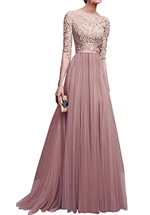 save off 6955b 9f9f3 Anyu Damen Elegant Chiffon Lang Kleid Abendkleider ...