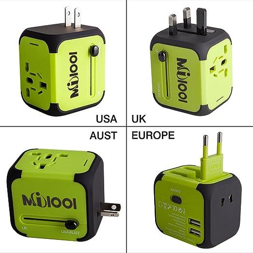 223 opinioni per Travel Adapter Universal Adattatore Universale da Viaggio Milool (US / EU / UK /