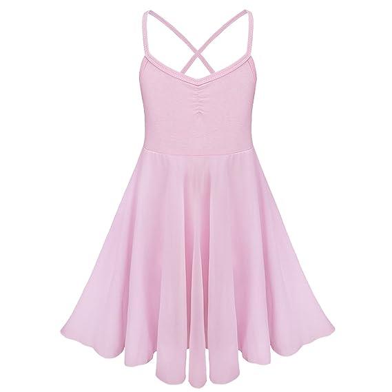 iEFiEL Vestido de Danza Ballet Tutú Vestido Clásico de Princesa Maillot de Danza para Niña con