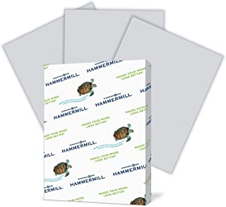 product image for Hammermill Colored Paper, 20 lb Gray Printer Paper, 8.5 x 11-1 Ream (500 Sheets) - Made in the USA, Pastel Paper