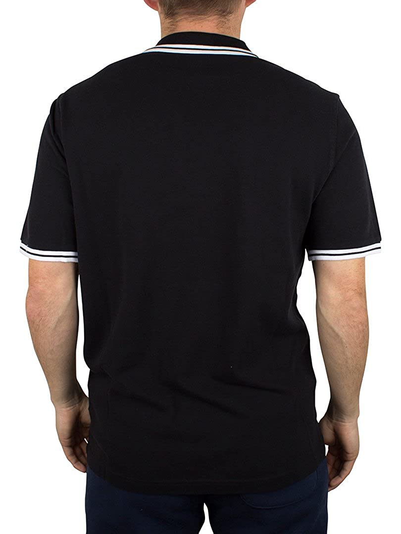Converse Hombre All Star Tipped Logo Polo Shirt, Negro, X-Large ...