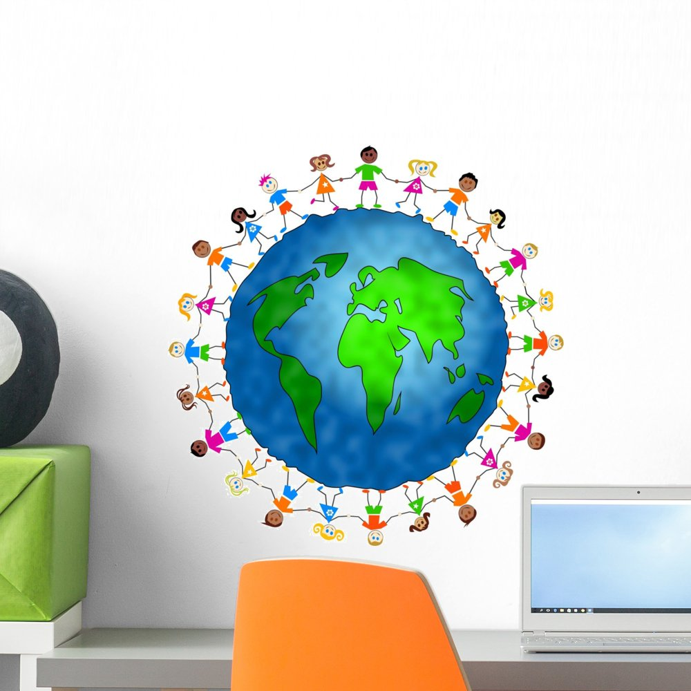 Wallmonkeys Global Kids Wall Decal Peel and Stick Graphic WM32388 (18 in H x 18 in W)