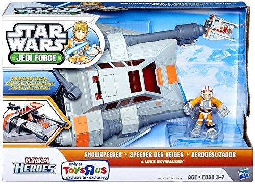 Star Wars 2014 Playskool Jedi Force Deluxe Vehicle Snowspeeder with Luke Skywalker
