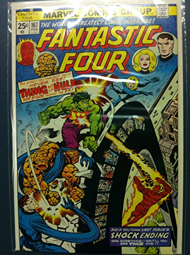 Fantastic Four #167 Titans Two Feb 76 Excellent (5 out of 10) Lightly Used by Mickeys Pubs