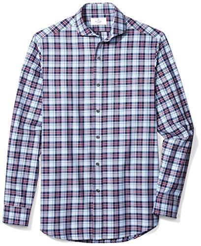 BUTTONED DOWN Men's Classic Fit Supima Cotton Cutaway-Collar Dress Casual Shirt