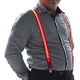 LED Suspenders for Women Neon Light Mens Pant