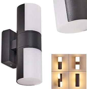 Aplique exterior LED Baulund, de metal antracita, iluminación de ...