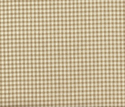 Close to Custom Linens French Country Linen Beige Gingham Bradford Valance, Lined (Gingham/Gingham)