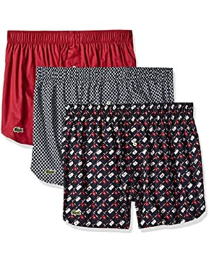 Men's Authentics 3-Pack Golf Flag Boxer