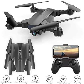 JHSHENGSHI GPS Drone, 1080P HD Videocámara WiFi FPV RC Drone 5Ghz ...