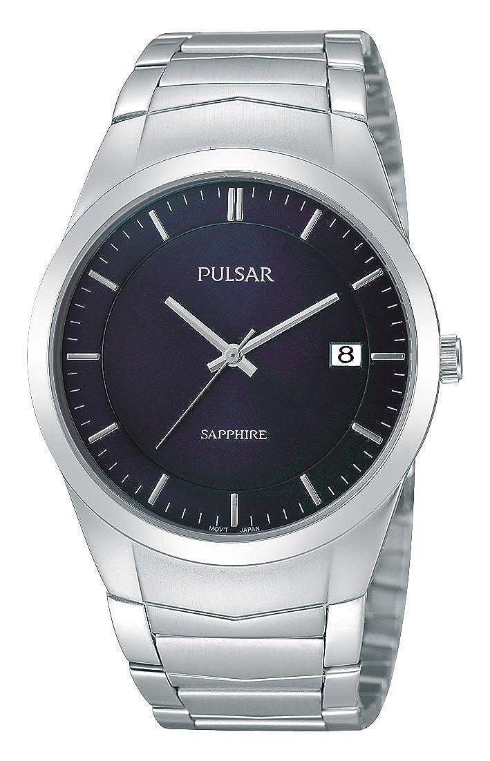 Pulsar Uhren Modern PS9131X1 - Reloj analógico de Cuarzo para Hombre, Correa de Acero Inoxidable Color Plateado