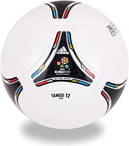 Adidas TANGO 12 Mini Ball UEFA EURO 2012 white-black - 1: Amazon ...