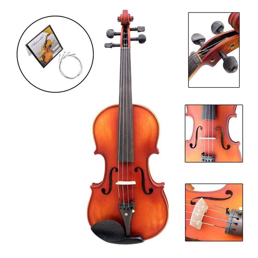 4 cuerdas para 4//4 1//2 1//8 3//4 Cuerdas de viol/ín AV10 con n/úcleo de acero inoxidable recubierto de n/íquel y cromo 1//4