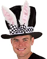 Jacobson Hat Company Men's Adult Black Velvet Bunny Ear Top Hat
