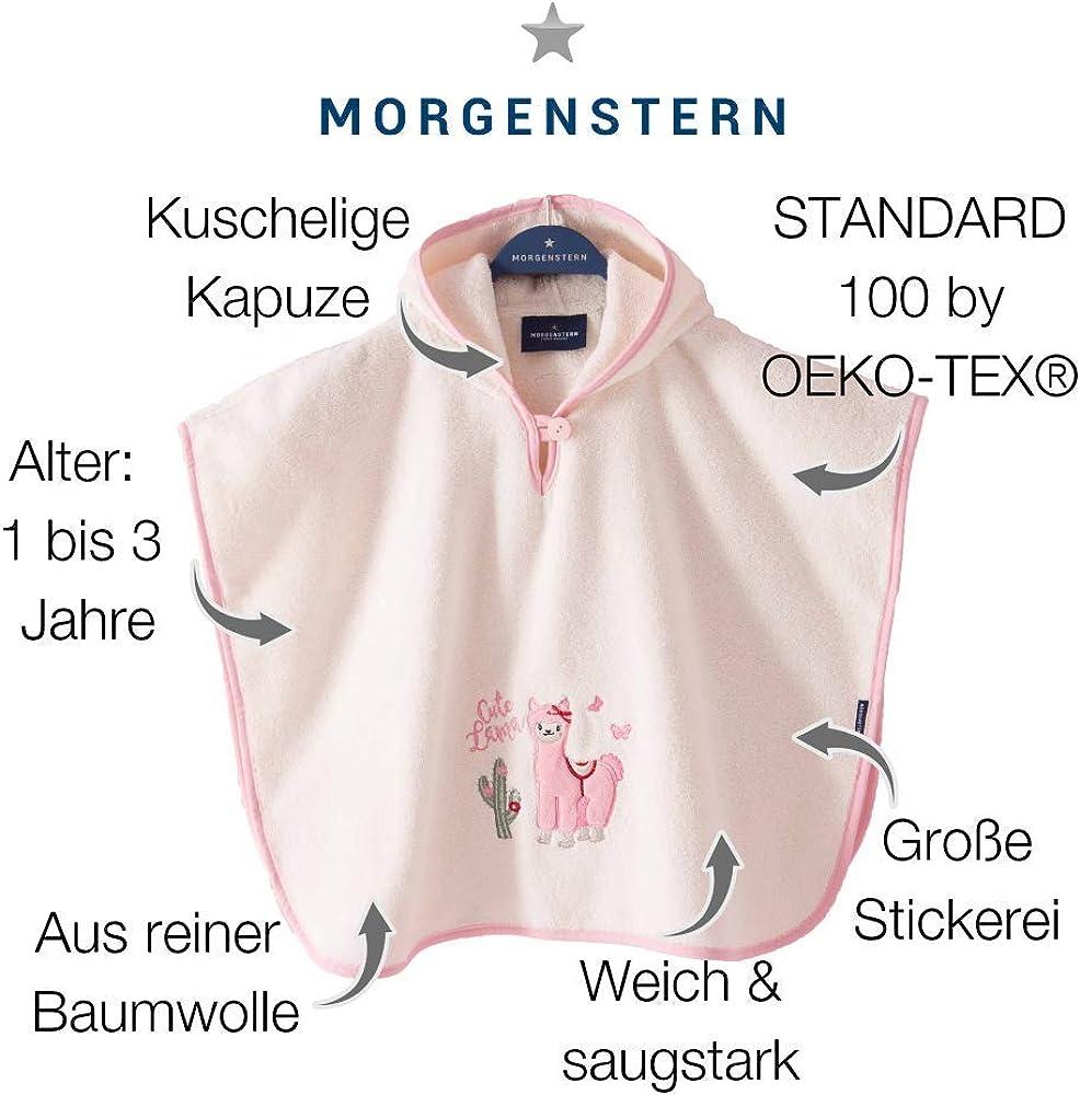 Morgenstern Poncho pour b/éb/é et Enfant de 1-3 Ans 100/% Coton Tissue /éponge Taille Uniforme Serviette de Bain avec Capuche