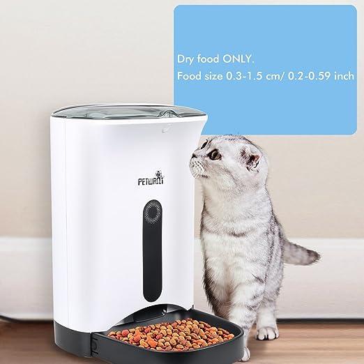 Comederos automáticos Alimentador de Mascotas 4.3L para ...