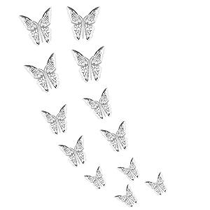 GJCDP Butterfly Wall Stickers Home Decor Cardboard,6D Vivid/Simulation Hollow Butterfly Wall Stickers,Removable Wall Stickers,Decals for Living Room, Wall, Bedroom,DIY Fridge Sticker