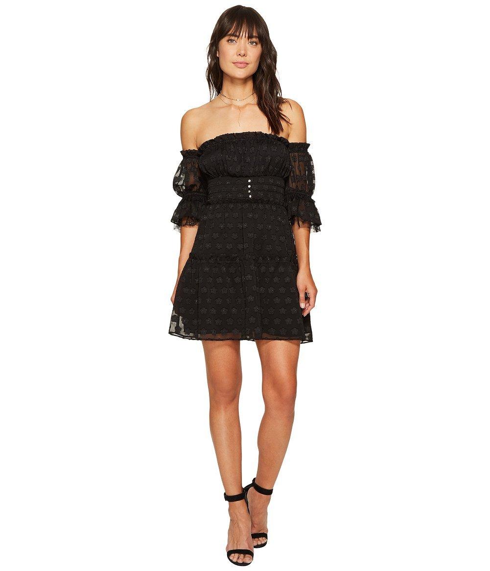 For Love & Lemons Women's Modern Love Off Shoulder Dress, Black, Small by For Love & Lemons (Image #1)