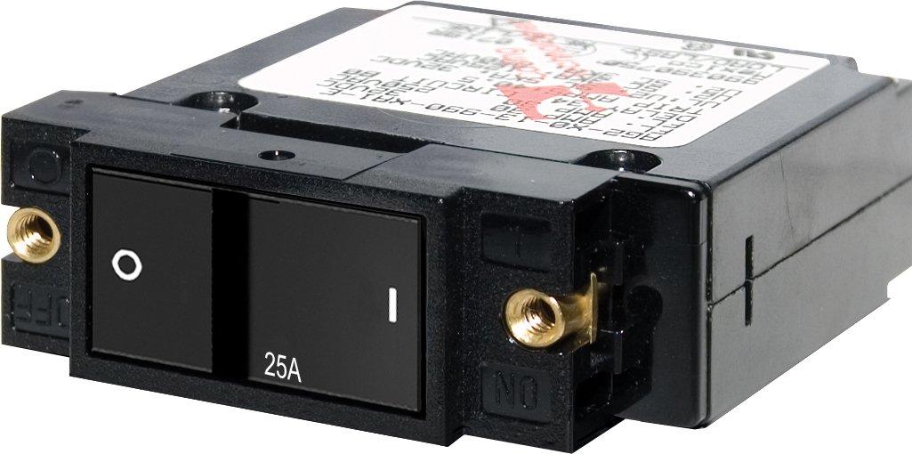 Blue Sea Systems A-Series Flat Rocker Single Pole 25A Circuit Breaker