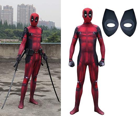 HEROMEN Deadpool Cosplay Spandex Jumpsuit Party Dress Lycra Tights ...