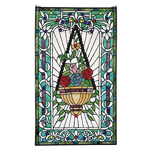 - Le Fenetre des Fleurs (Window of Flowers) Stained Glass Window Hangings - Window Treatments ()