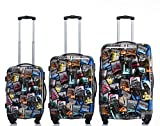 Rivolite New 3 Piece Luggage Set Luggage Set 20'/24'/28' Suitcase (Tourist Attraction)