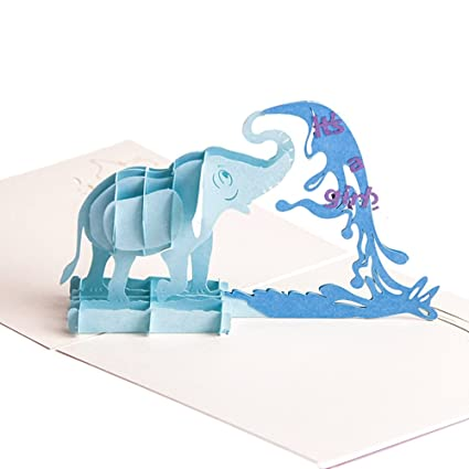 Amazon Heartmoon 3d Pop Up Cards Elephant Birthday Cards For