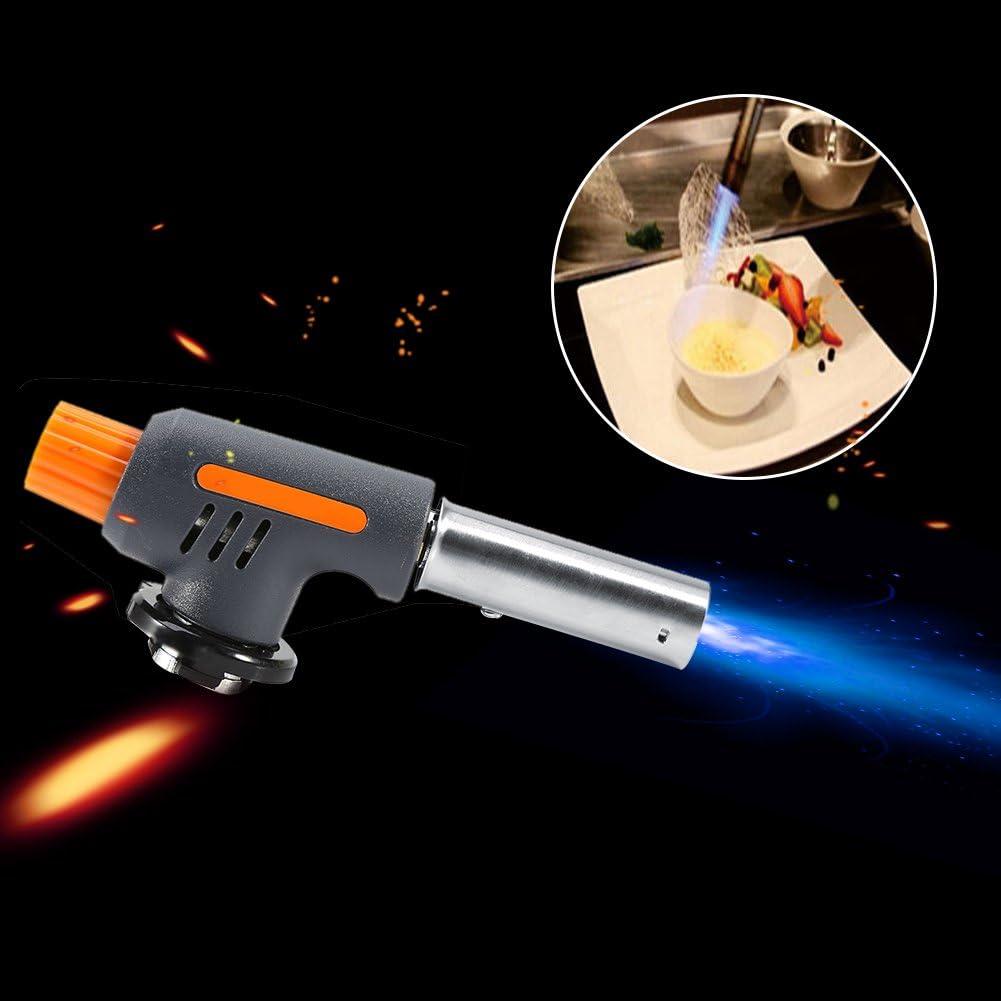 Souffler la flamme Camping Gas Torch Welding Fire Maker Briquet Butane Br/ûleur Pistolet /À Flamme pour BBQ