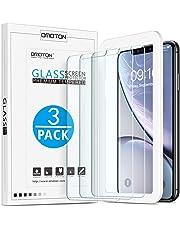 OMOTON Verre Trempé pour iPhone XR Film Protection Ecran avec Kit Installation Offert, Vitre Protecteur 9H Dureté, sans Bulles, 2.5D Arrondi pour iPhone XR 6.1 Pouces [3 Pièces]